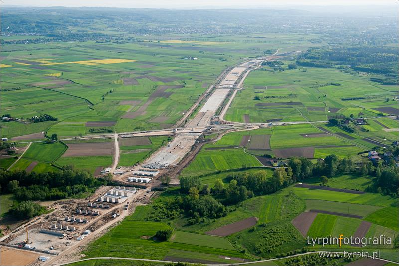 Budowa autostrady - okolice Paszczyny i Brzeźnicy