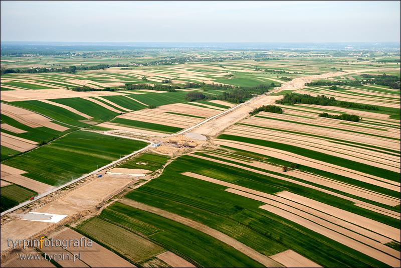 Budowa autostrady koło Borowej
