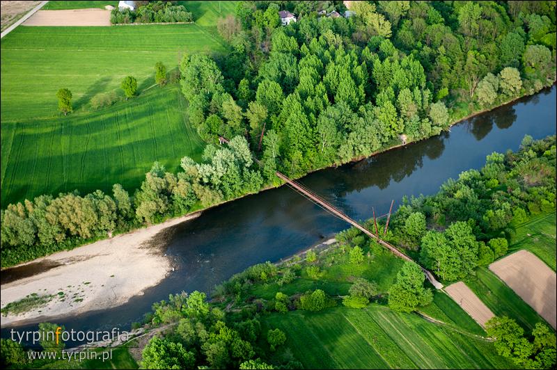 Most na Wisłoce pomiędzy Korzeniowem, a Pustkowem