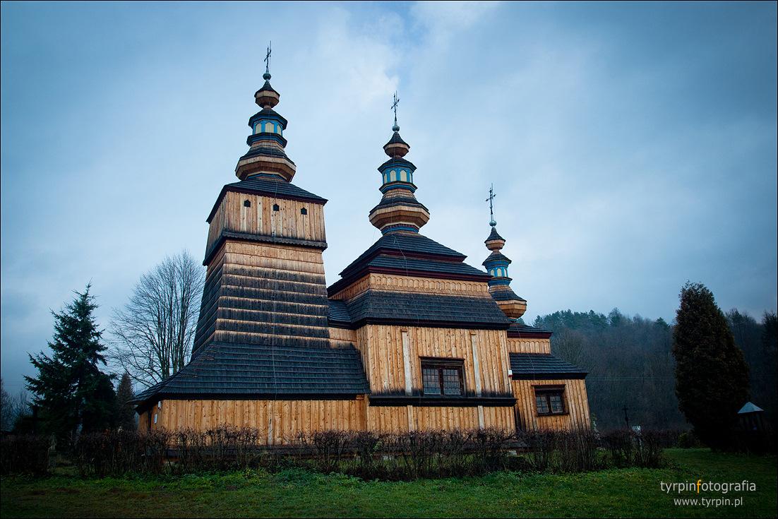 Krempna - cerkiew śś. Kosmy i Damiana z 1778 roku.